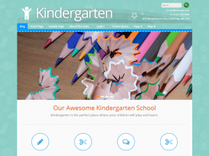 Kindergarten - ChildCare, Preschool, Children school or Kids WordPress Theme