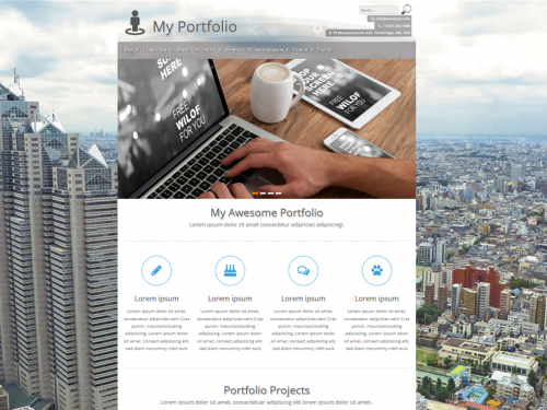personal portfolio screenshot