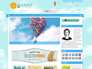 Sunny Blue Sky - Travel, Kindergarten, Preschool or Kids related Multi-Purpose Free WordPress Theme