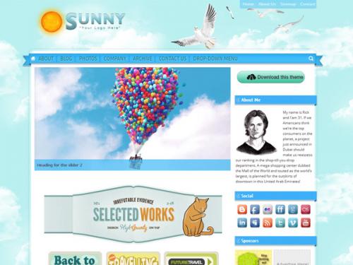 sunny blue sky screenshot