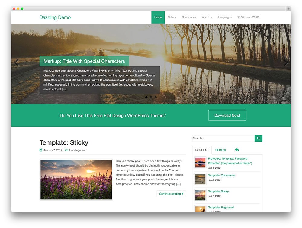 dazzling flat travel theme