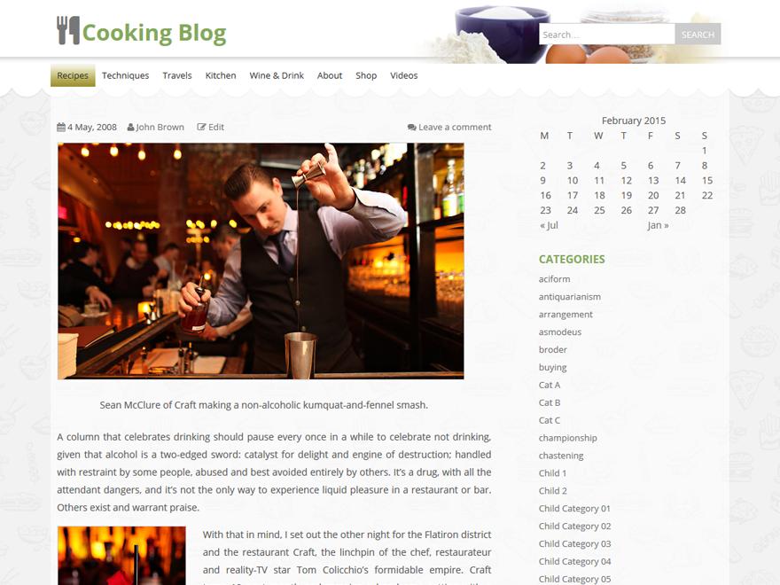 food & cook wordpress theme