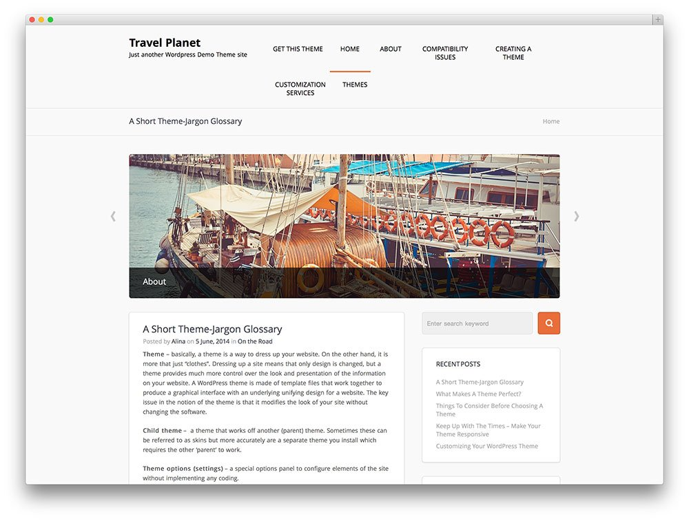 Start travel blog with this theme.