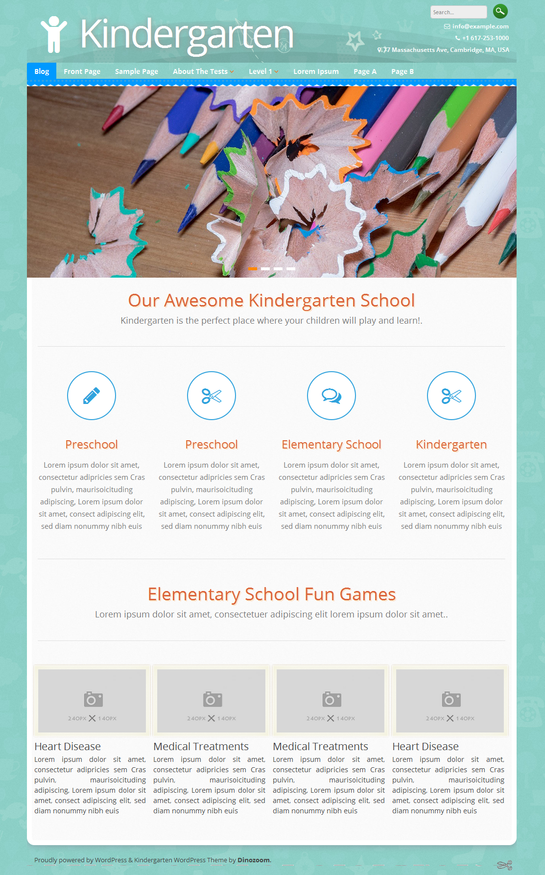 Kindergarten - ChildCare, Preschool, Children school or Kids WordPress Theme Preview