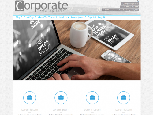 corporate business theme screenshot